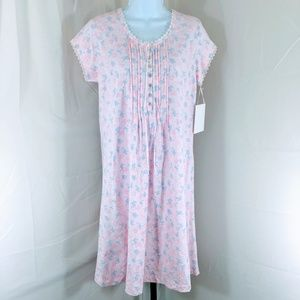 NWT - Eileen West Pima Cotton Floral Nightgown